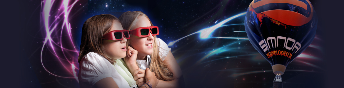 2 Girls Watching a movie with 3d glasses