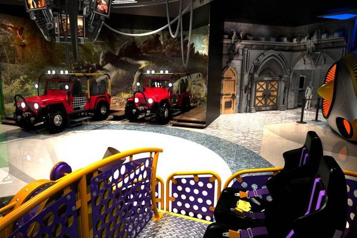Virtual reality car ride